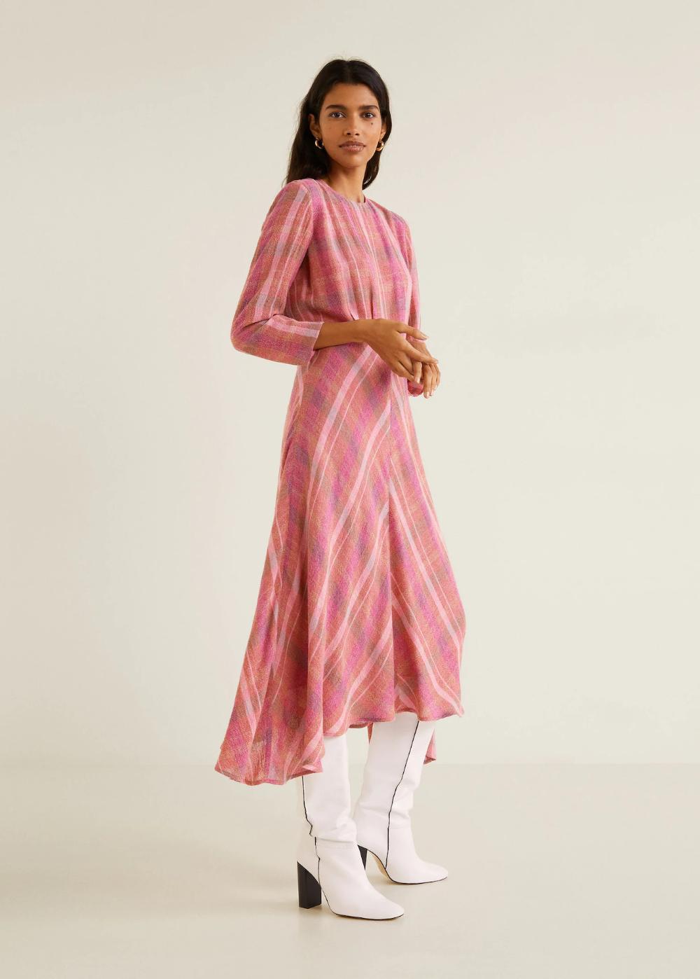 Kariertes midi-kleid - Damen  OUTLET Schweiz  Kleider