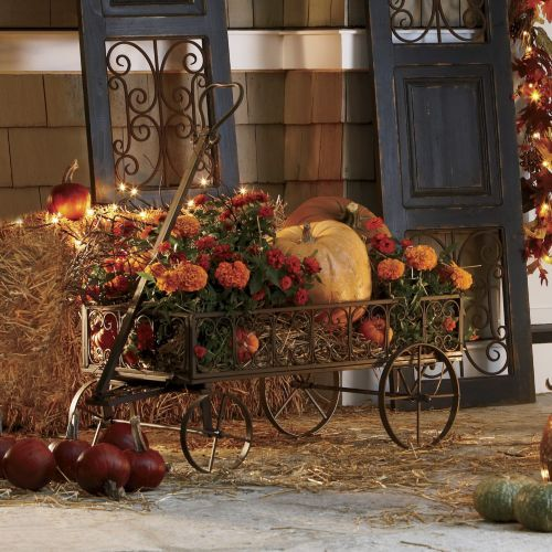 Fall Country Decorating Ideas: Flower Wagon From Through The Country Door®
