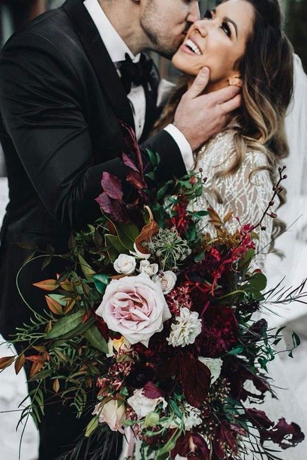 Top 25 Moody Wedding Bouquets for 2018 Trends - Page 3 of ...