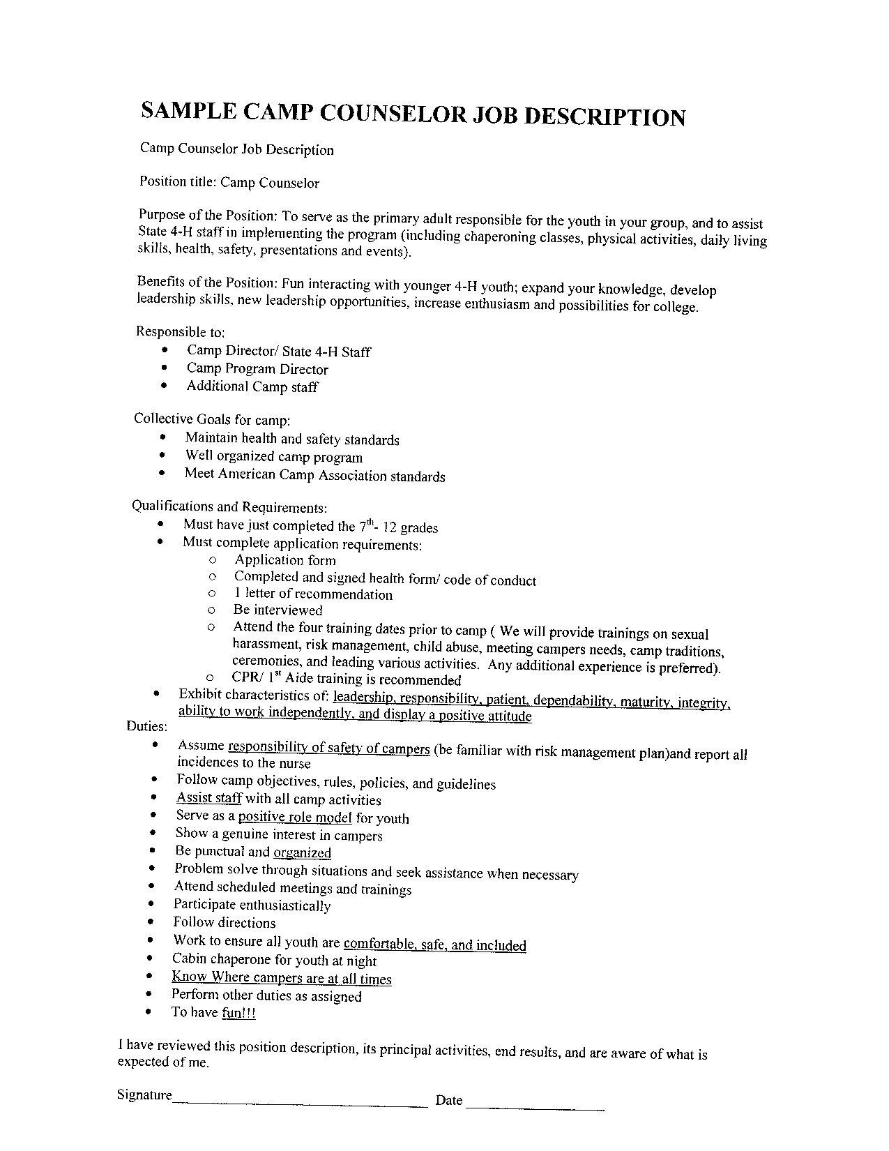School Counselor Resume Examples Best Of Resume Examples Hd Image Floss Papers Camp Counselor Job Description Counselor Job Description Job Resume Examples