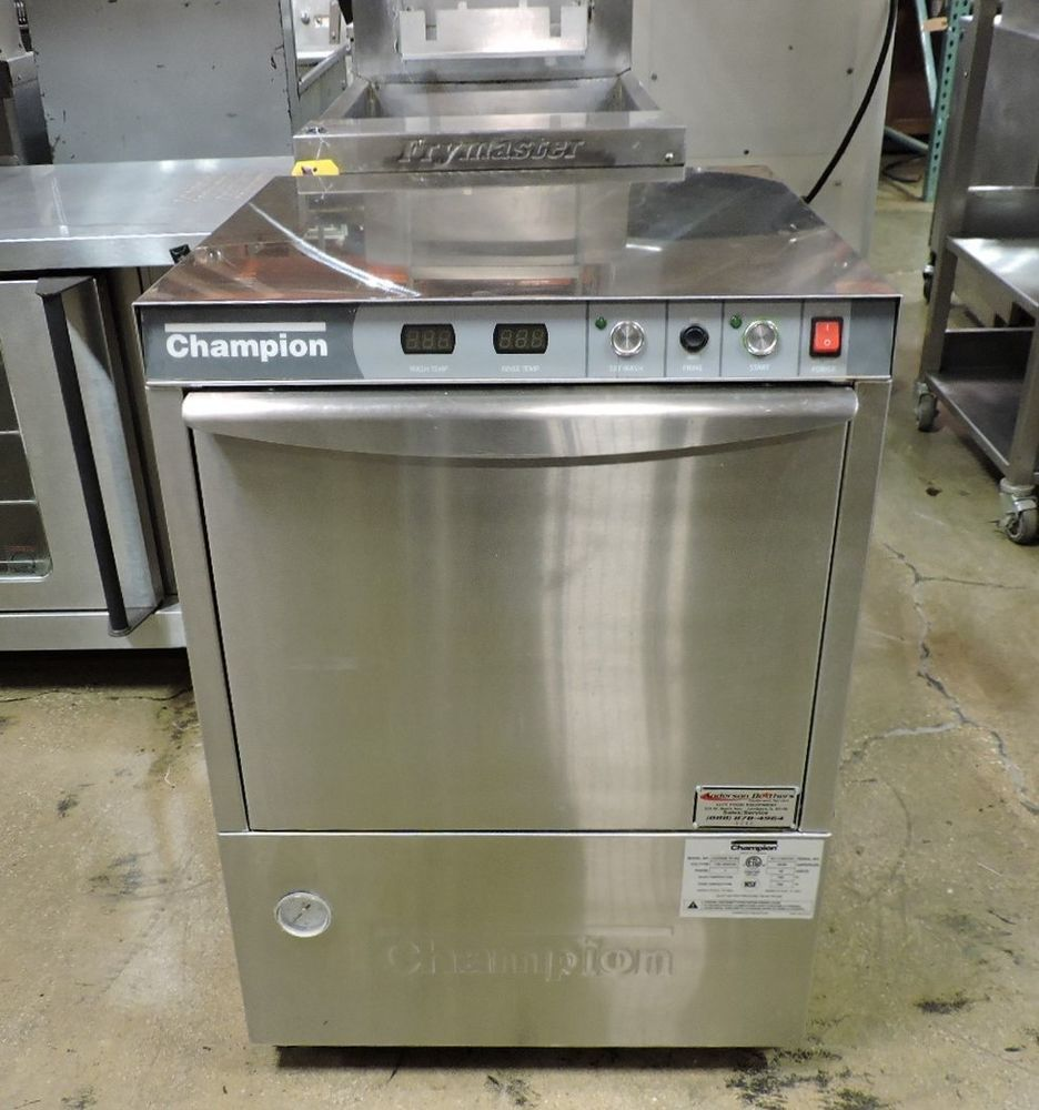 Champion Uh200b Commercial Undercounter High Temp Dishwasher W Booster Heater Champion