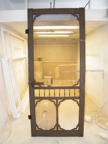 Antique Victorian Eastlake Screen Door 1 36 X 85 Ball Stick Gingerbread Ebay 100 Screen Door Old Screen Doors Victorian Style Homes