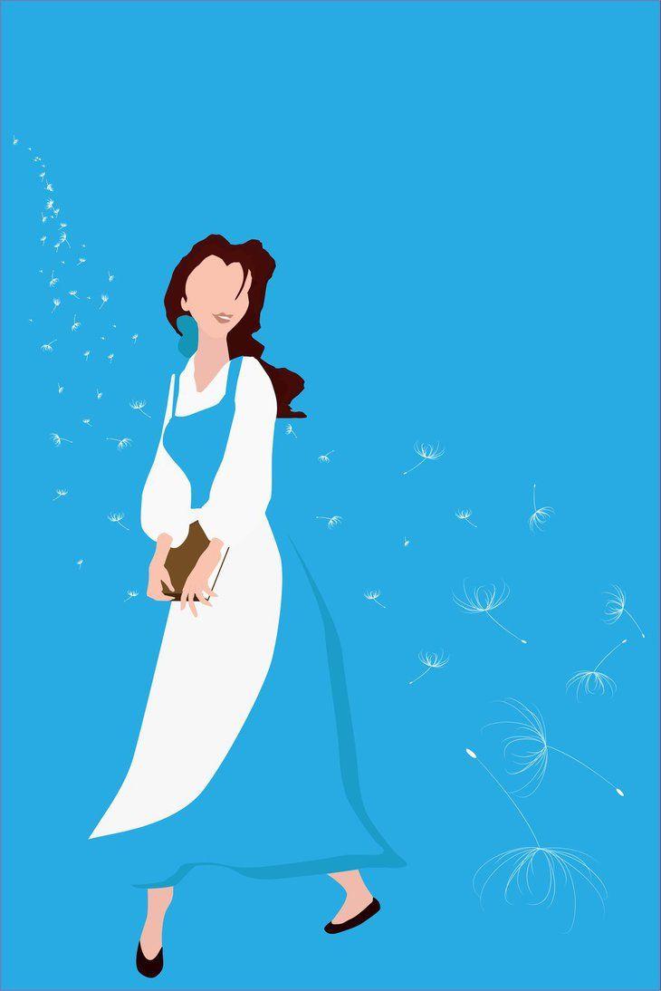 belle minimalist poster by proshowersinger on