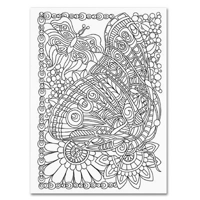 Trademark Art Beautiful Butterfly Graphic Art On Wrapped Canvas Wayfair Muster Malvorlagen Paisley Malvorlagen Schmetterling Leinwand