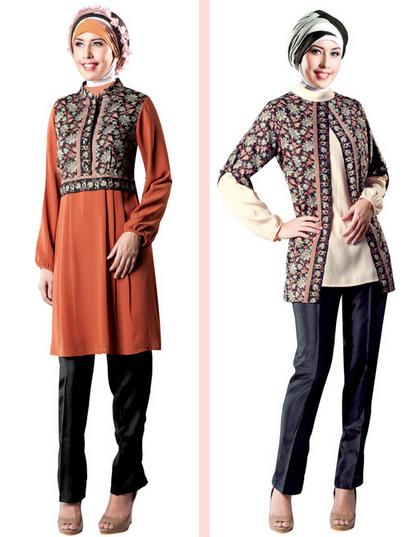 10 Contoh Baju Muslim Batik Modern 2015 Gaun Batik Model Pakaian Hijab Baju Muslim