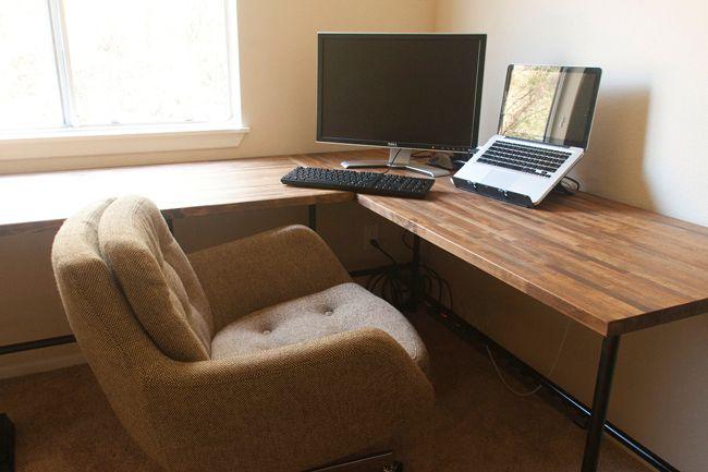 Insideways Diy Custom Desk Diy Corner Desk Home Office Furniture Desk Custom Desk