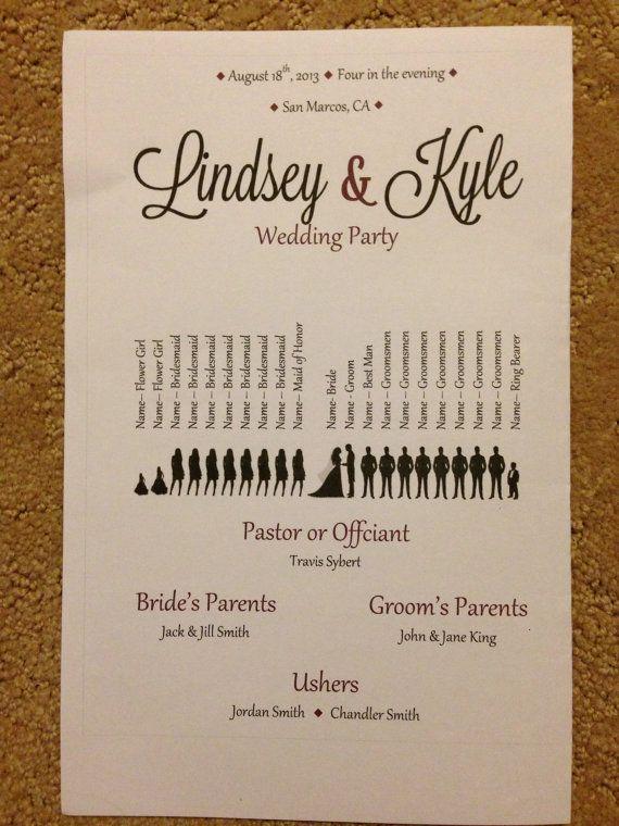Wedding Paddle Fan Program Template Download by MrsBakersShop, $20.00