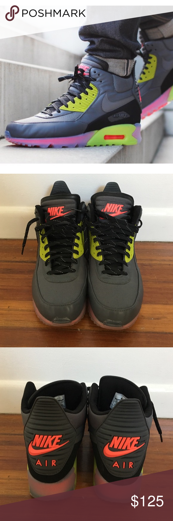 Nike Shoes | Air Max 90 Sneakerboot Ice Infrared 115 | Poshmark