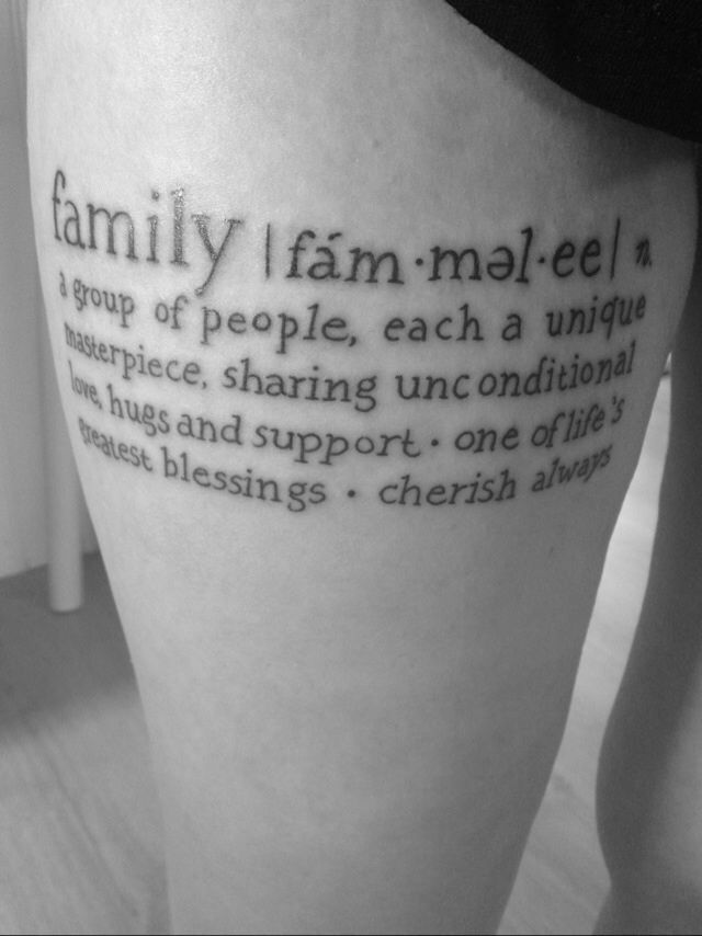 family definition | tattoos that i love | pinterest