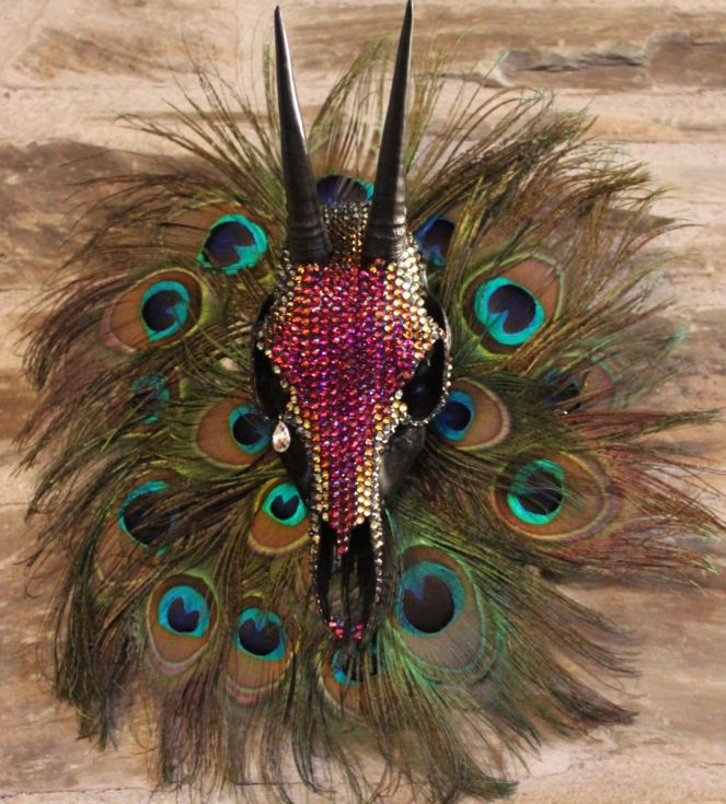 ARTFINDER: Cha' Kwaina meaning one who crys by Scott Hendrie - Cha Kwaina meaning one who crys.  This is a Grey Duiker Skull encrusted with Swarovski volcano Crystal. The left eye is adorned with one single Swarovski ...