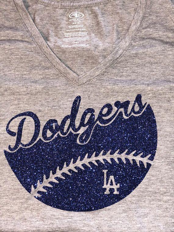 Dodgers Glitter Shirt - Dodgers Shirts For Women - Dodgers