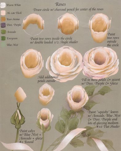 Painting a Rose tutorial by Ros Stallcup from her book