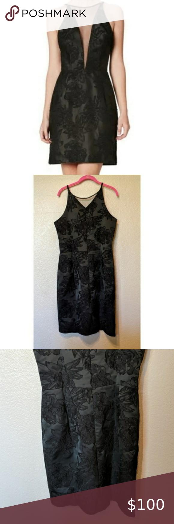 Dress The Population Kennedy Xl Black Dress Dress The Population Lace Dress Long Butterfly Sleeve Dress [ 1740 x 580 Pixel ]