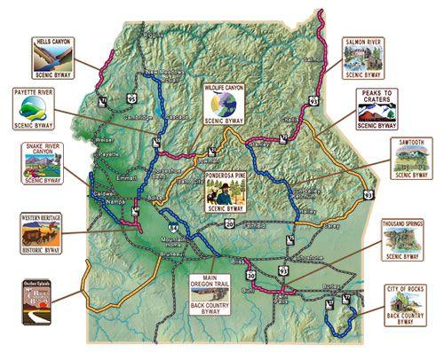 idaho scenic byways map Soutwestern Idaho Byways Map Idaho S Scenic Byways Outdoor idaho scenic byways map