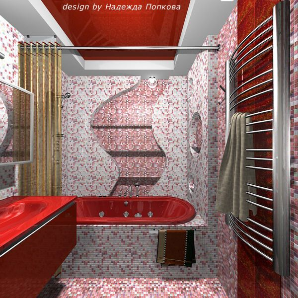 moderne hauptschlafzimmer designs interior hauptschlafzimmer ruski modern bathroom design little busy with the mosaic tile but love red