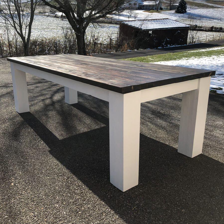 how to build farmhouse table legs