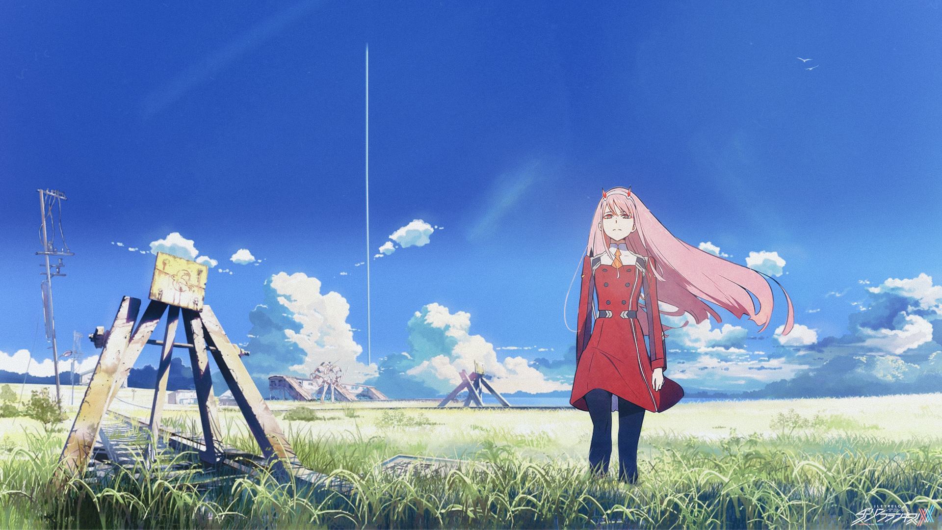 Anime 1920x1080 Darling In The Franxx Zero Two Darling In The Franxx Pink Hair Darling In Franxx Clear Sk Anime Characters Darling In The Franxx Female Anime