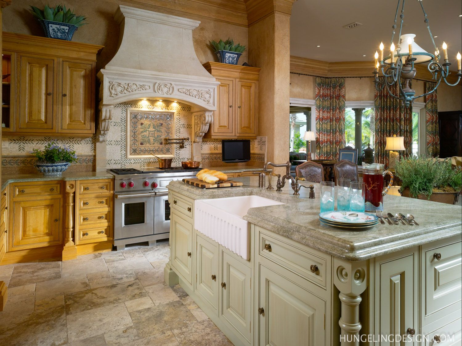 Clive Christian Luxury Kitchen  Sandestin FL by Hungeling Design in Palmetto Bluff SC featuring