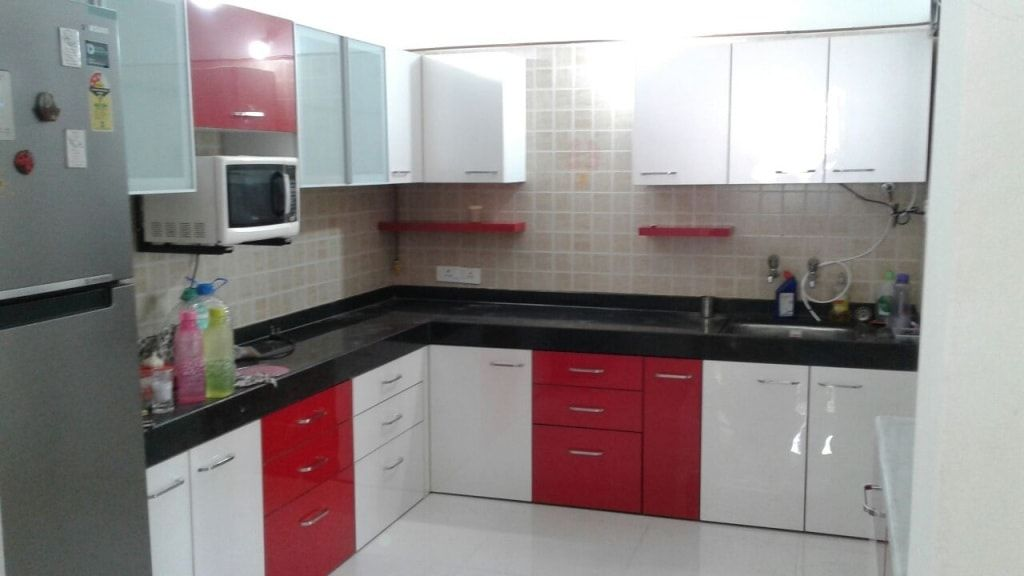 Buy The Best Modular Kitchen Designer And Decorator In Bareilly Affordable Price Call Us Now L Shaped Modular Kitchen Kitchen Design Modular Kitchen Cabinets