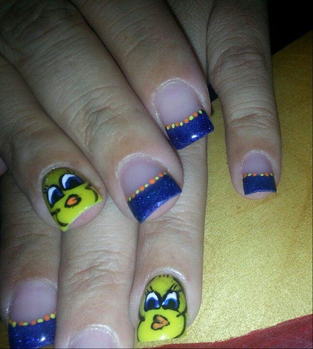 tweety bird nail art