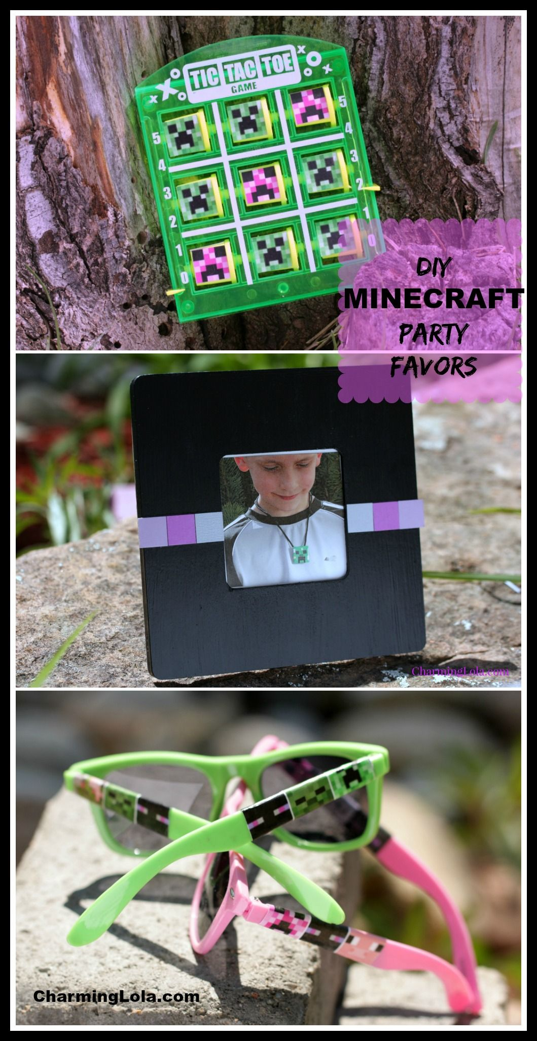 DIY Minecraft Party Favors include 6 DIY Minecraft party gift ideas