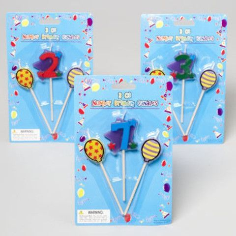 birthday candles on a stick Case of 48