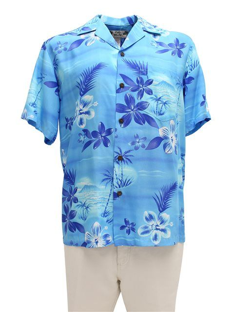 bdebaa577c Moonlight Scenic Blue Rayon Men's Hawaiian Shirt | wedding ideas ...
