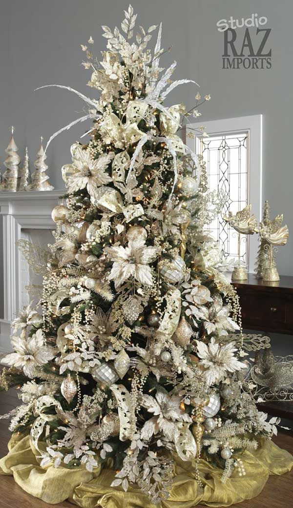 e8d0096475e 25 Creative and Beautiful Christmas Tree Decorating Ideas. Wonderful  Christmas Tree White ...