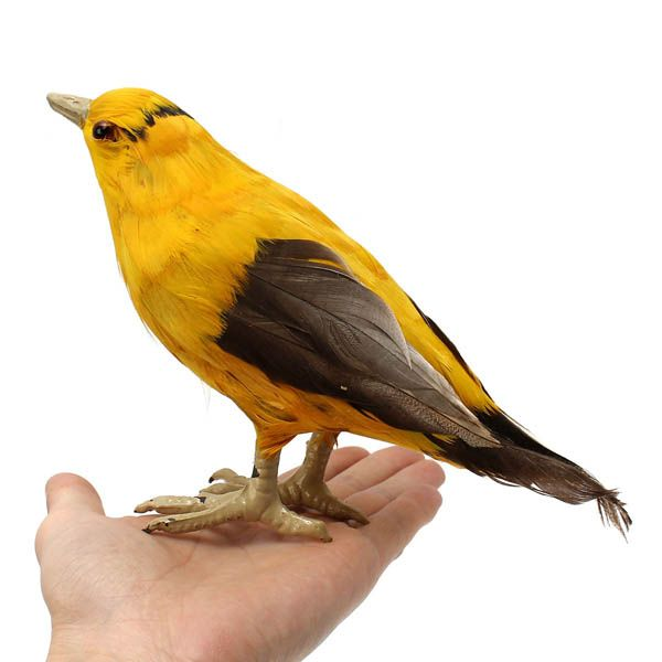 Artificial Plastic Oriole Bird Animal Decor Handicraft Garden Landscape Ornament