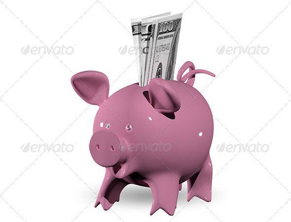 Piggy Bank Currency Design Piggy Bank Pink Piggy Bank