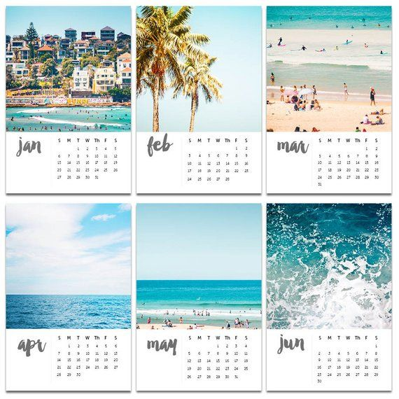 2019 Beach Calendar 2019 bondi beach calendar with easel nautical calendar 4x6 ocean