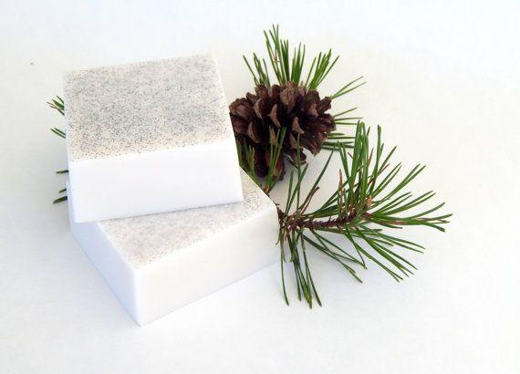 ALPINE FROST Soap Bars Fresh Snow Scent Crisp Pine Soap Homemade Soap Mint Soap Vegan Bath Beauty Christmas Gift Holiday Unisex Scent