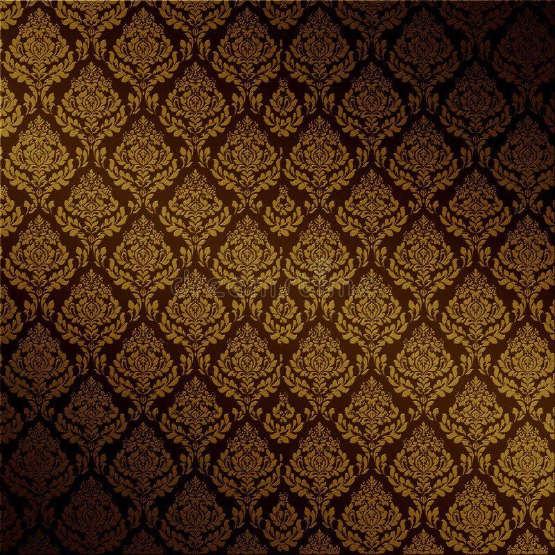 Vector Brown Damask Seamless Rich Dark Brown Floral Damask Fabric Seamless Orn Aff Seamless Rich Dark Vec Damask Textured Background Floral Damask