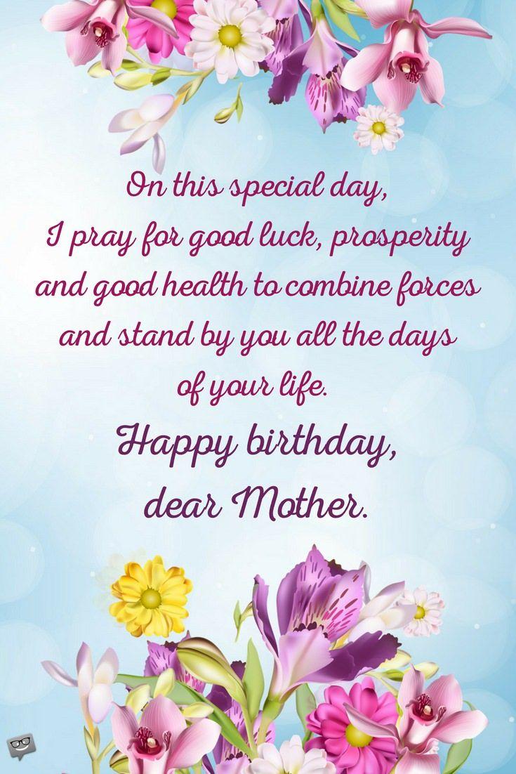 Happy Birthday Wishes For Mother Pinterest Happy Birthday