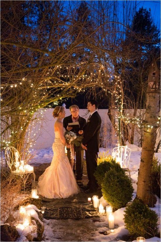 Glamorous Vow Renewal Ceremony Wedding Renewal Vows Winter Wedding Arch Renewal Wedding