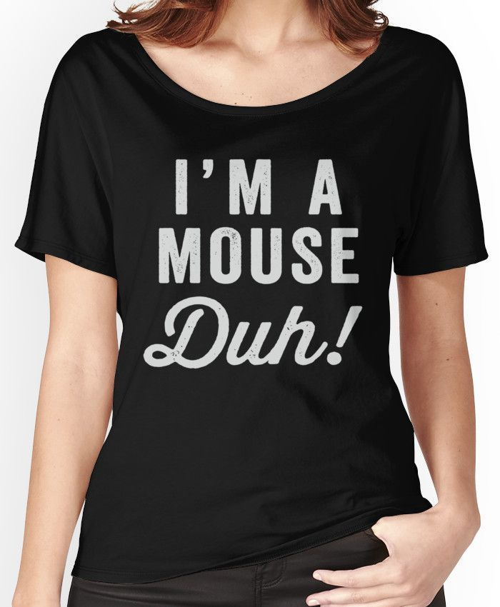 Womens Halloween Party Costume Mean Girls Top Ladies I/'m A Mouse Duh T Shirt