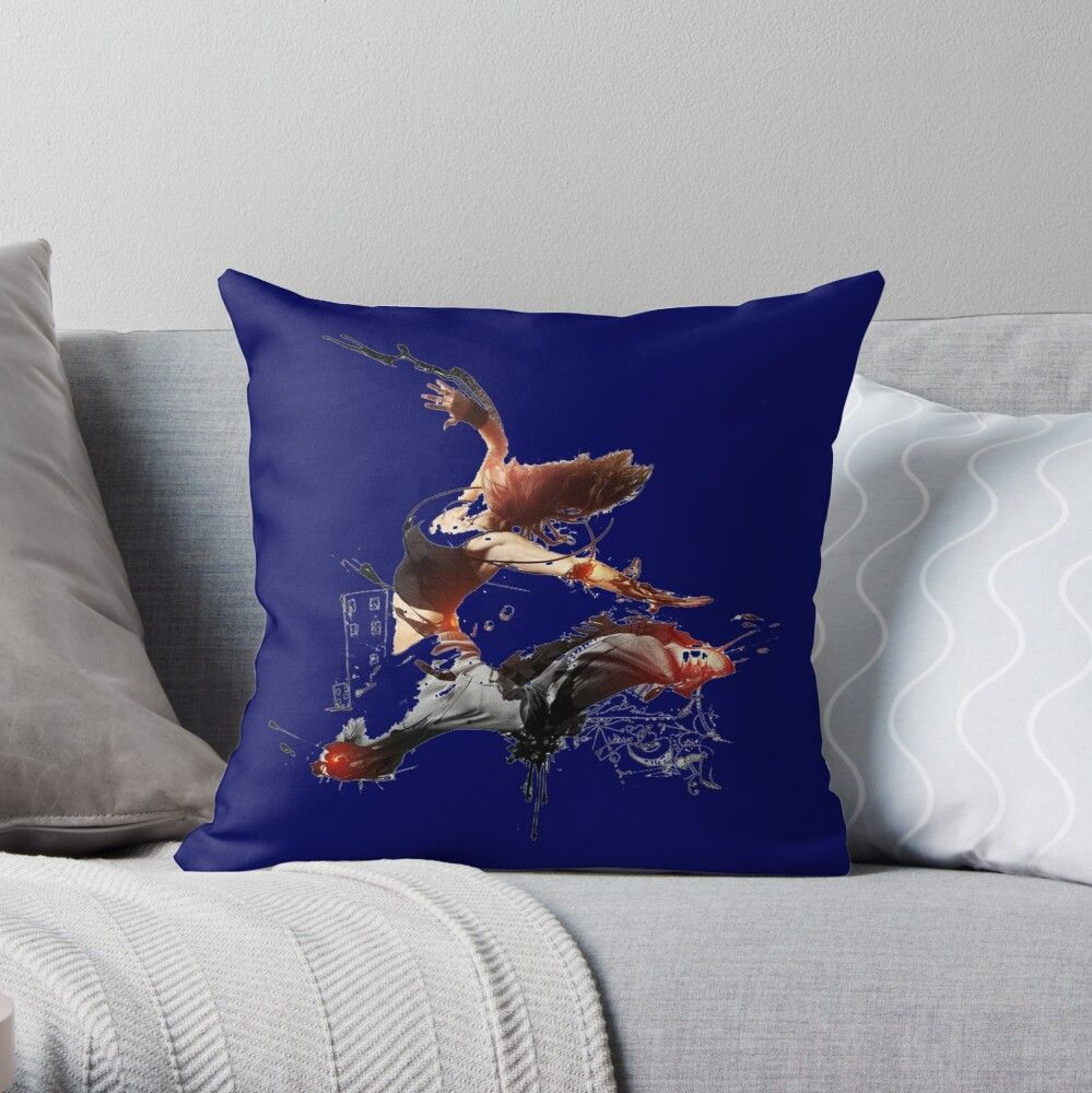 'Graphic image of female' Throw Pillow by Khanchoice in