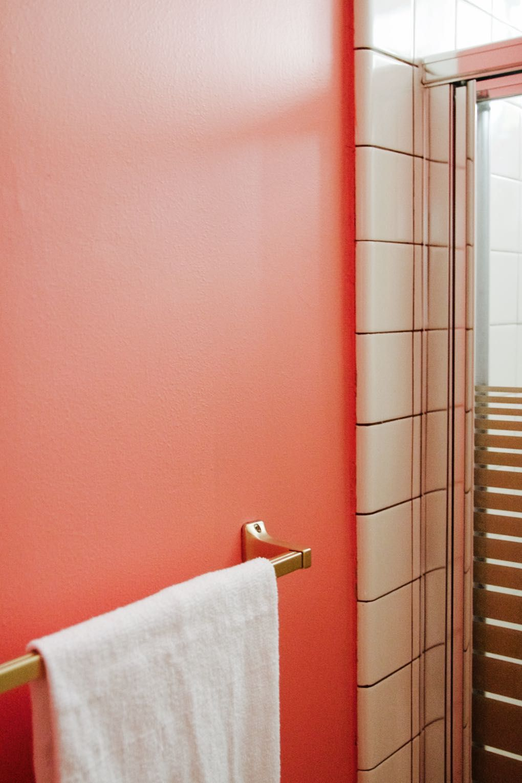 The TeenyTiny Bathroom Makeover Tiny Bathrooms Gold Bathroom And - Gold bathroom paint