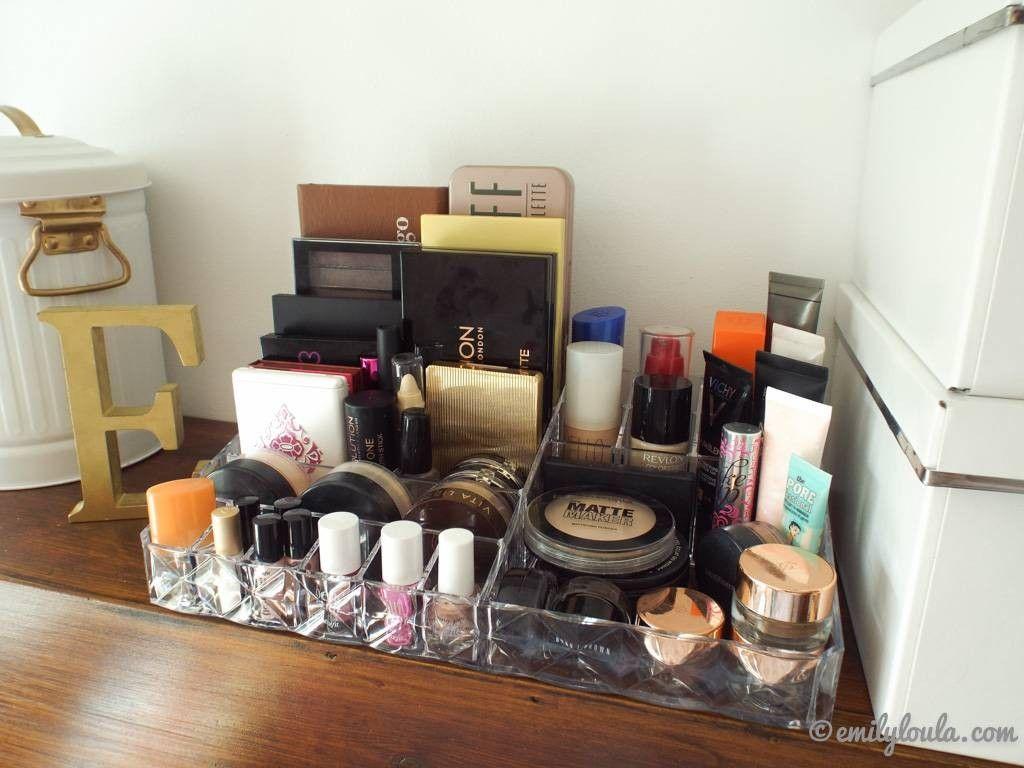My Makeup Storage Dressing Table Set Up Emilyloula