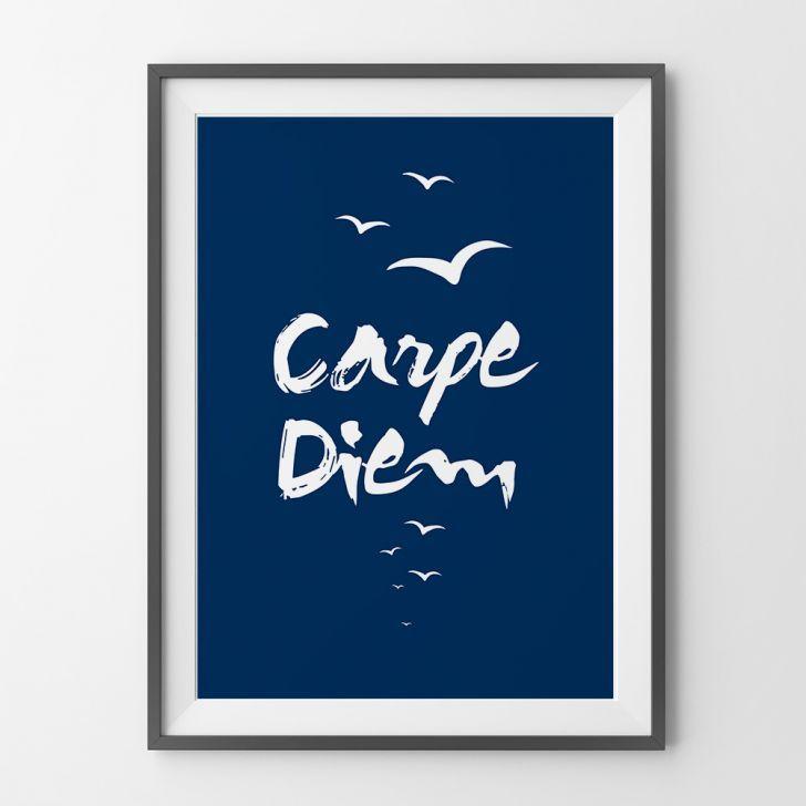 Poster adesivo Carpe diem :B