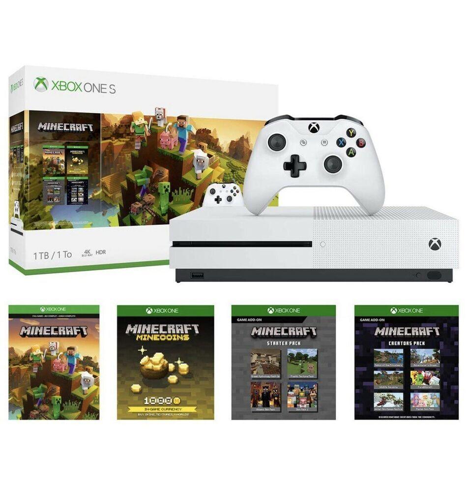 Xbox One S 1tb Minecraft Creators Bundle Digital Minecraft Downloads Included Minecraft Playing Game Xbox One S 1tb Xbox One S Minecraft Creator