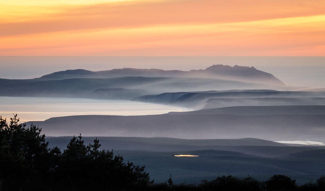 Sunset over Point Reyes CA [OC][5329x3127] via /r/EarthPorn