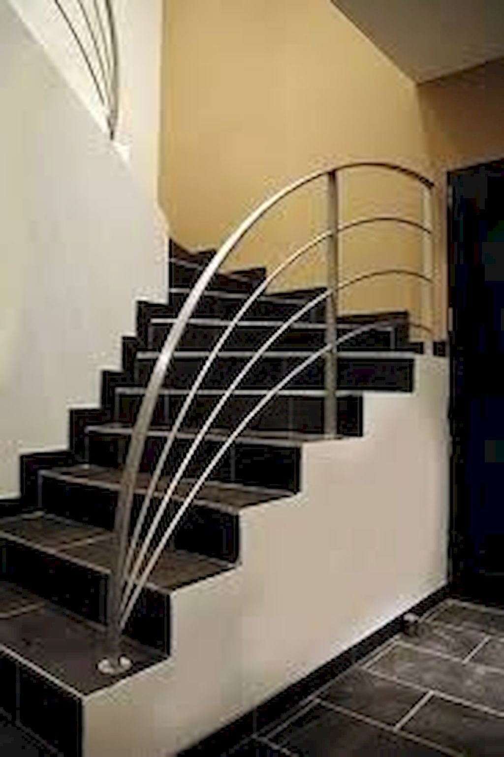 Luxurious The Beautiful Staircase Decor Of The House Becomes   Stairs Railing Designs In Steel   Caramel   Glass   Iron Spindle Railing   Square   Solid Wood