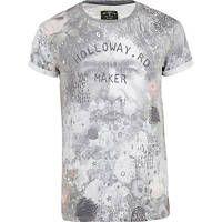 Grey Holloway Road sublimation face t-shirt