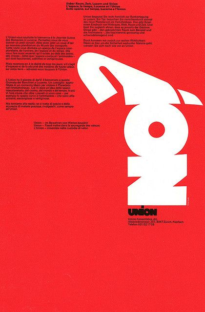 Swiss bank poster by Siegfried Odermatt from New Graphic Design 44 by Alki1, via Flickr