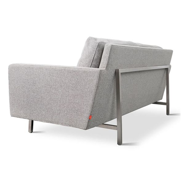 High Quality Bloor Contemporary Sofa By Gus Modern | Steel Frame Back Detail | Light  Grey Sofa |