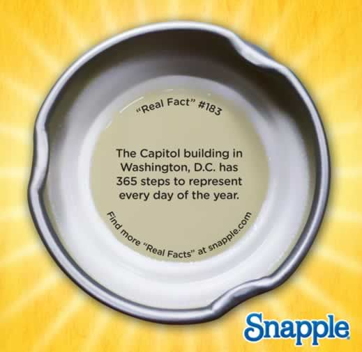 Real Fact #183- The Capitol building in Washington, D.C. has 365 steps to represent every day of the year.