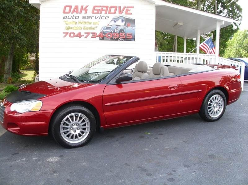 2005 Chrysler Sebring Touring Convertible 6 995 Chrysler
