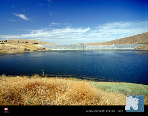 Willow Creek Dam Is Located In The Town Of Heppner Ore About 45 Miles South Of Hermiston Ore Army Corps Of Engineers River Columbia River