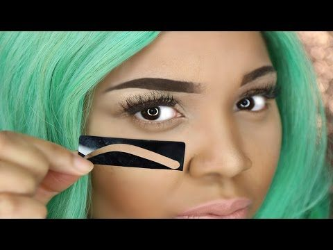 HOW TO USE EYEBROW STENCIL | PERFECT EYEBROWS - YouTube ...